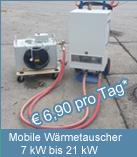 Der mobile Lufterhitzer ist ein transportables Warmluftgebläse mit Heizwasserregister zum Anschluss an unsere mobilen Elektrothermen. Der Einsatzbereich der transportablen Lufterhitzer: Bauheizung, Hallenheizung oder Winterbauheizung. Die Geräte arbeten energiesparend im Umluftbetrieb.