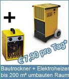 Set Bautrockner TTK 200 + Elektroheizer 3 kW