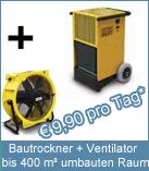 Set Bautrockner TTK 200 + Ventilator