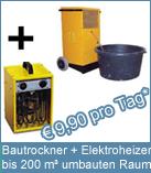 Set Bautrockner TTK 400 + Elektroheizer 3 kW