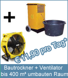 Set Bautrockner TTK 400 + Ventilator