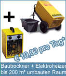 Set Bautrockner TTK 600 + Elektroheizer 3 kW